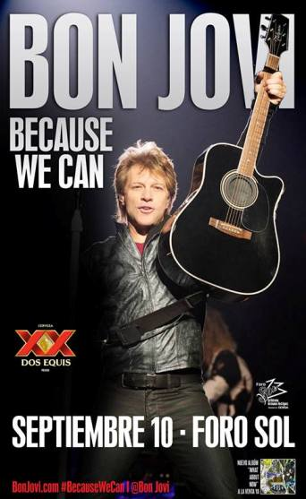 Bon Jovi Because We Can Mexico 2013