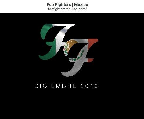 Foo Figthers Mexico Logo 2013