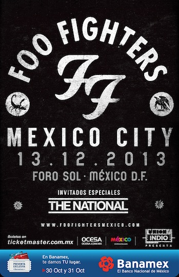 Foo Fighters Mexico 2013