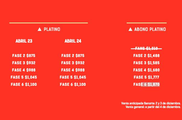 Vive Latino 2016 Cartel fases 2