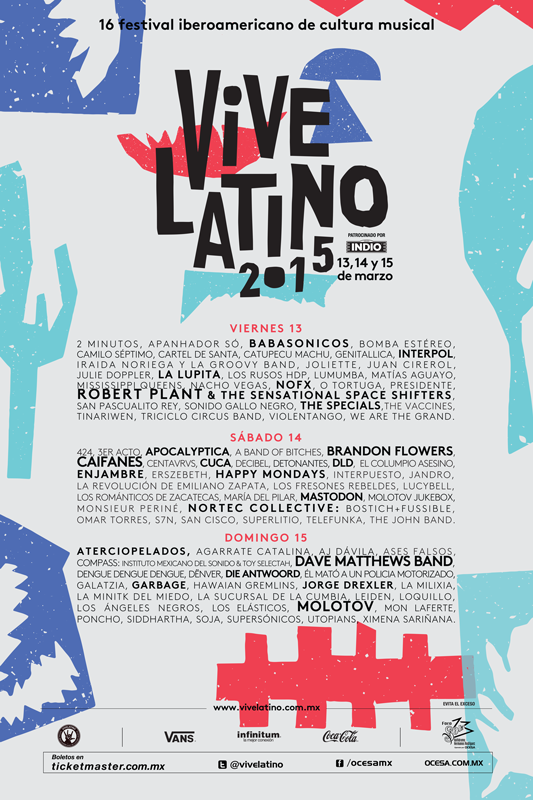 Cartel Vive Latino 2015
