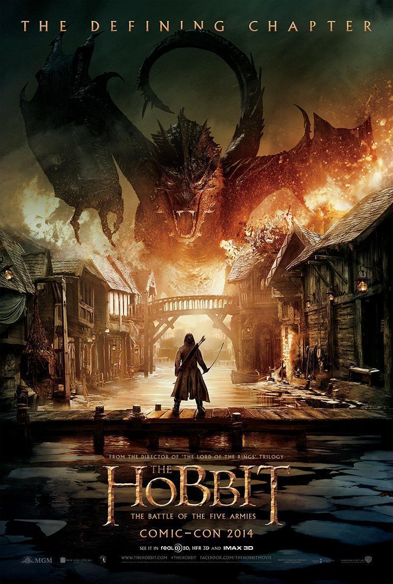 El Hobbit La batalla de los Cinco Ejercitos poster