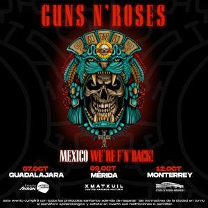 Guns N' Roses México 2021 poster