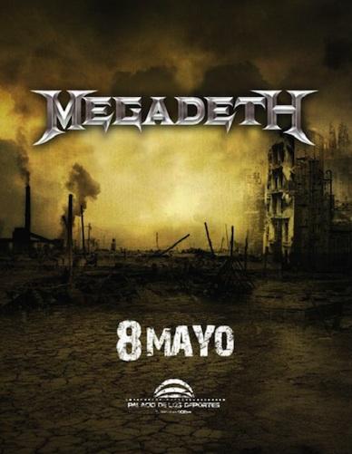 Megadeth Mexico 2014